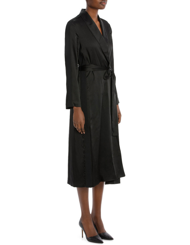 Deconstructed Satin Crepe Robe image 2