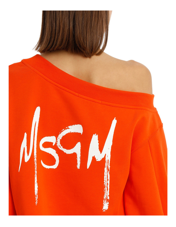 Brush Logo Crop Sweatshirt image 4