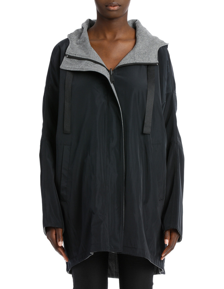 Reversible Hooded Swing Jacket image 1