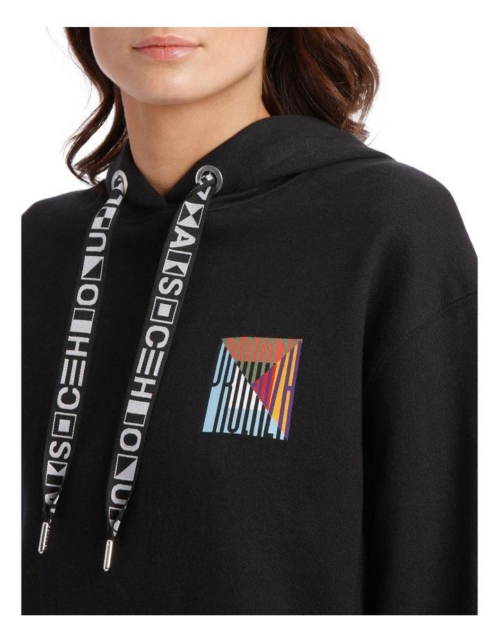 Printed Hooded Sweatshirt Jersey image 4