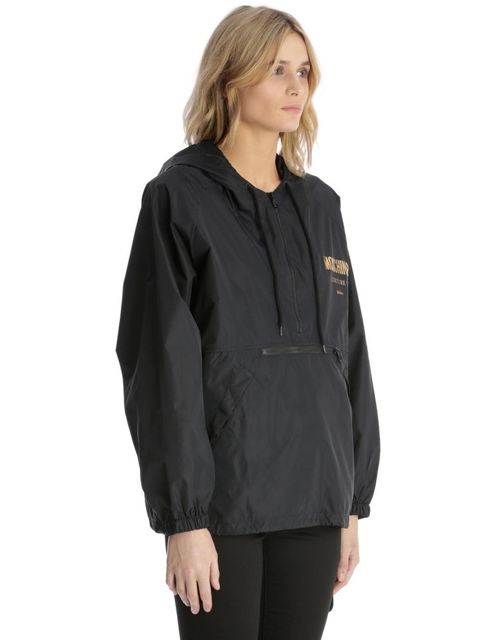 'Couture! Milano' Logo Hooded Rain Pullover image 2