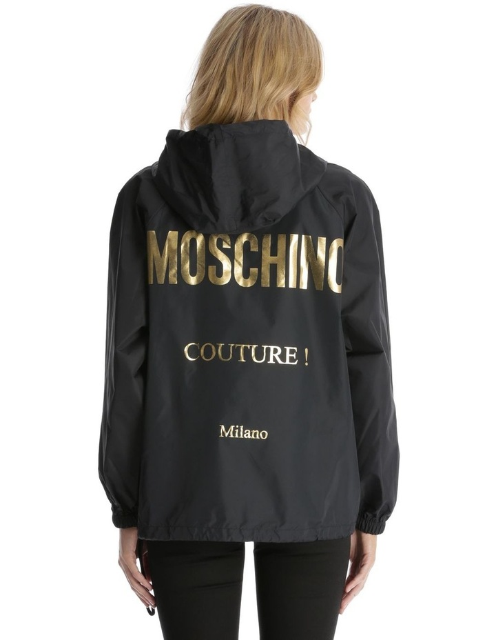 'Couture! Milano' Logo Hooded Rain Pullover image 3