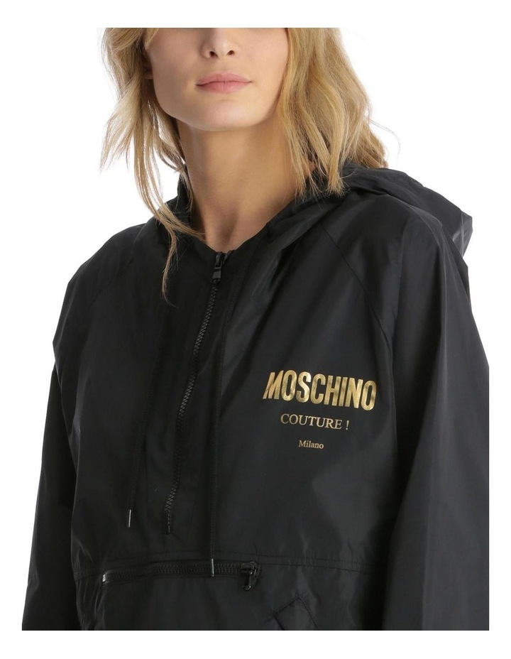 'Couture! Milano' Logo Hooded Rain Pullover image 4