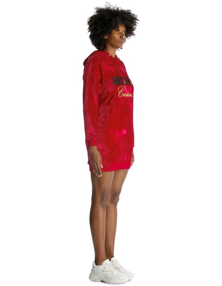 Embroidered Hoodie Dress in Velvet image 2