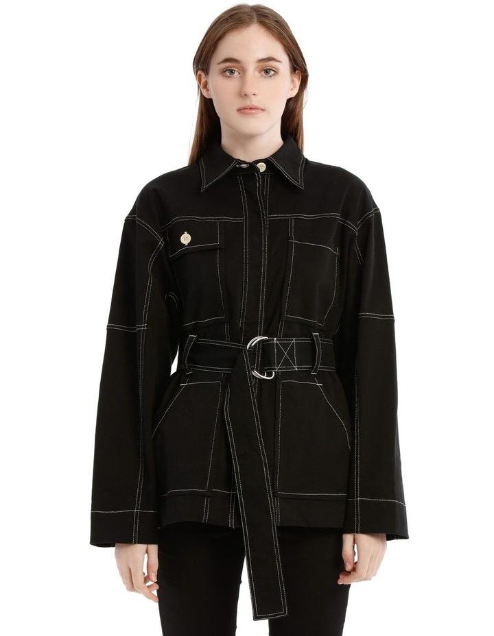 Black Utility Belt Jacket image 1