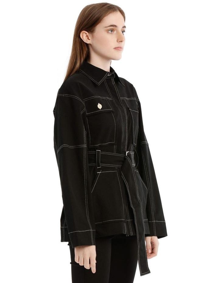 Black Utility Belt Jacket image 2