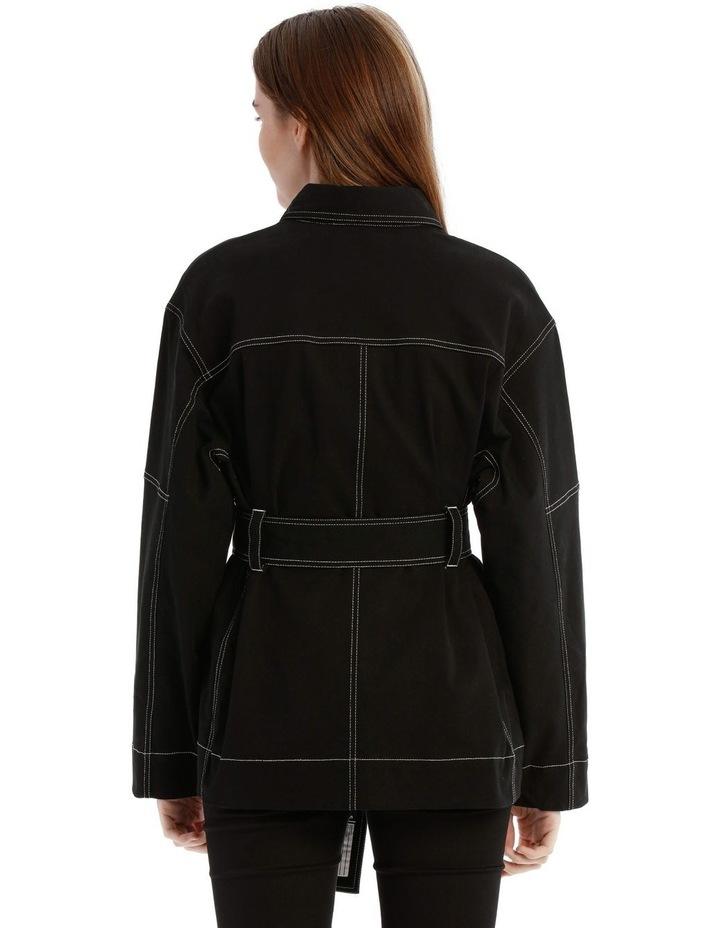 Black Utility Belt Jacket image 3