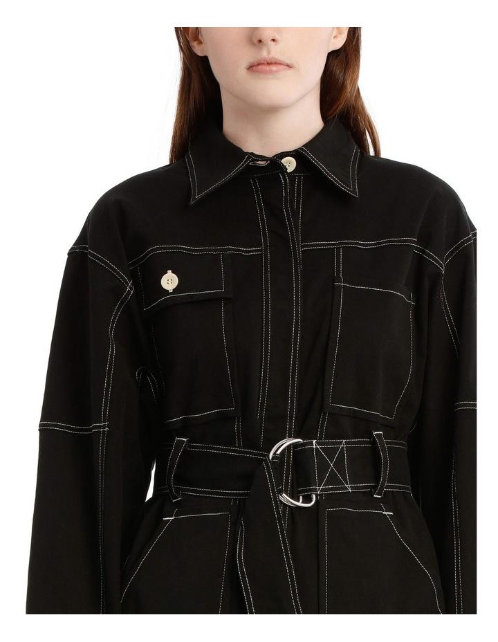 Black Utility Belt Jacket image 4