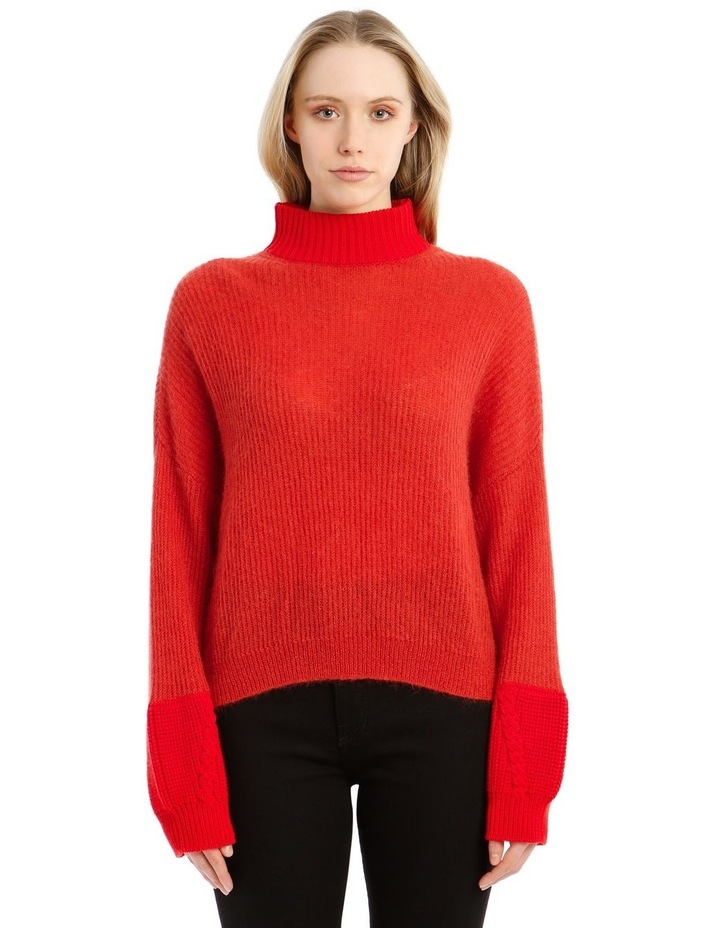 Trace Bi-Material Sweater - Red image 1