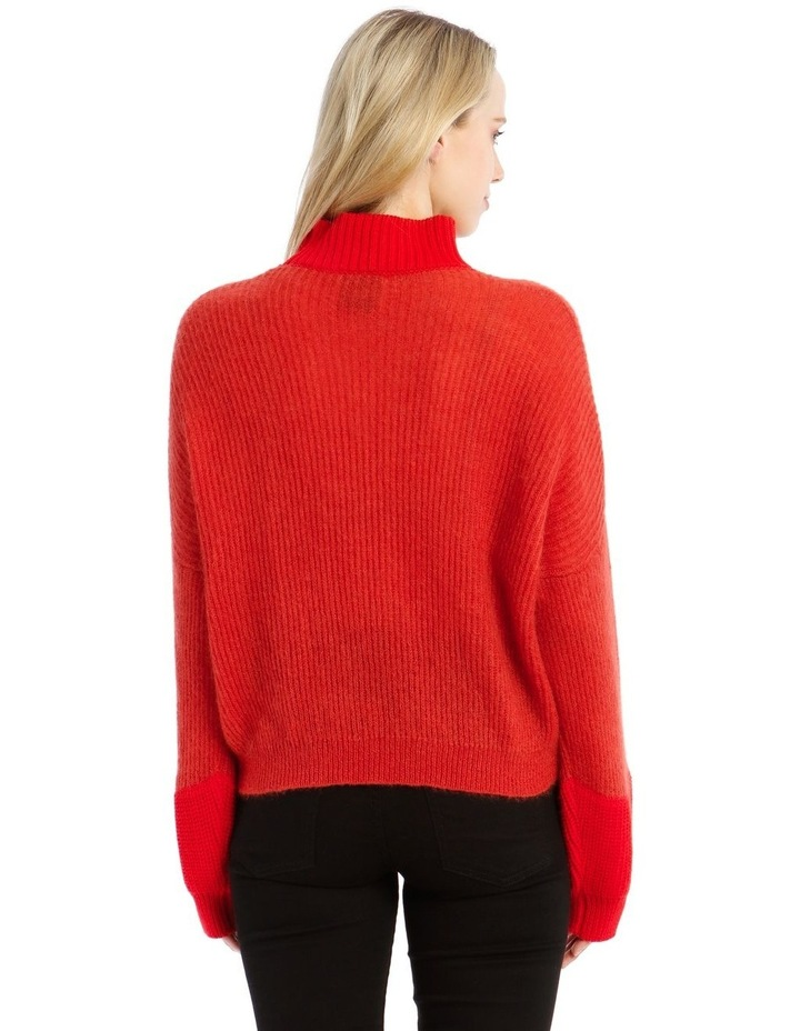 Trace Bi-Material Sweater - Red image 3