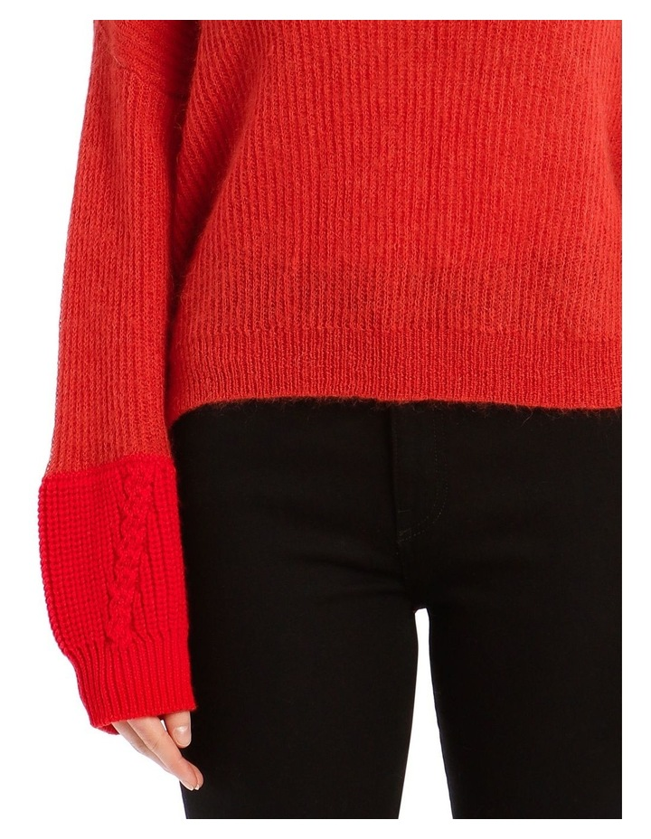 Trace Bi-Material Sweater - Red image 4