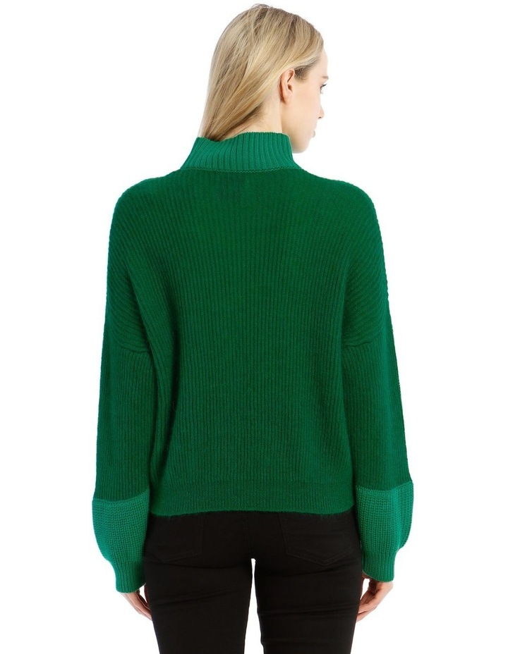 Trace Bi-Material Sweater - Green image 3