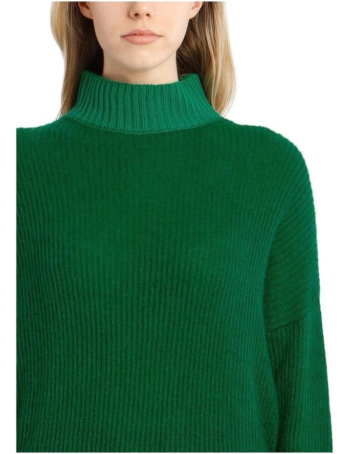 Trace Bi-Material Sweater - Green image 4