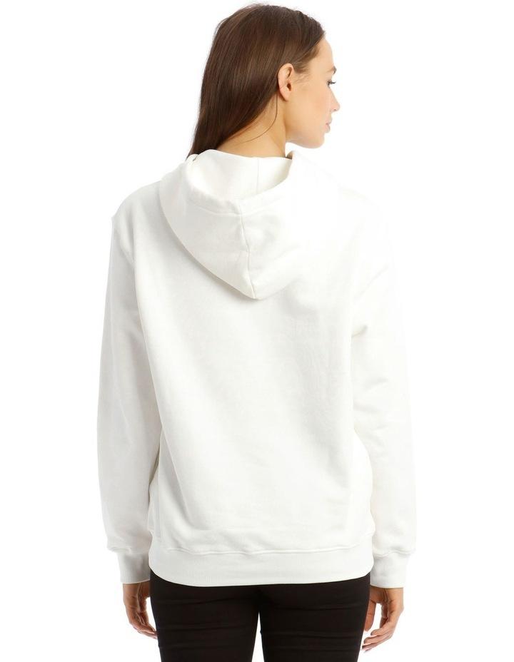 Dollar Teddy Bear Cotton Sweatshirt in White image 3
