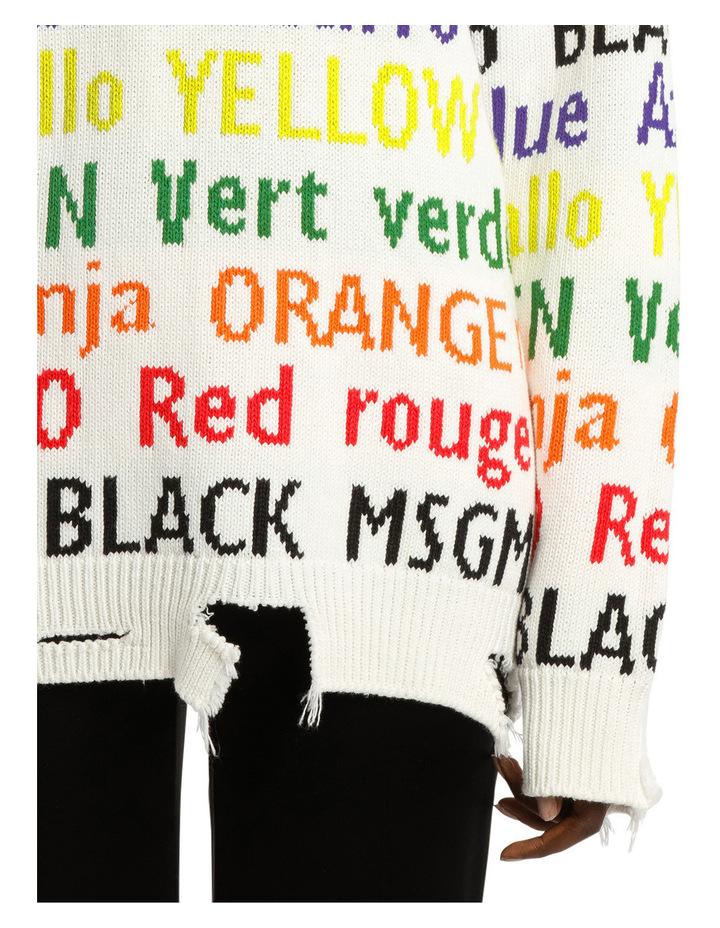 Multicolor Logo Jacquard Knit Long image 4