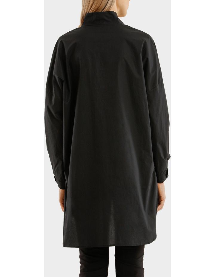 Long Sleeves Oversized Deep V-Neck Tunic With Step Hem image 3