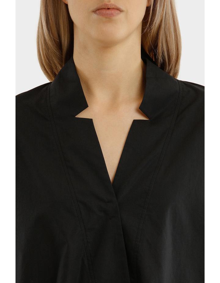 Long Sleeves Oversized Deep V-Neck Tunic With Step Hem image 4