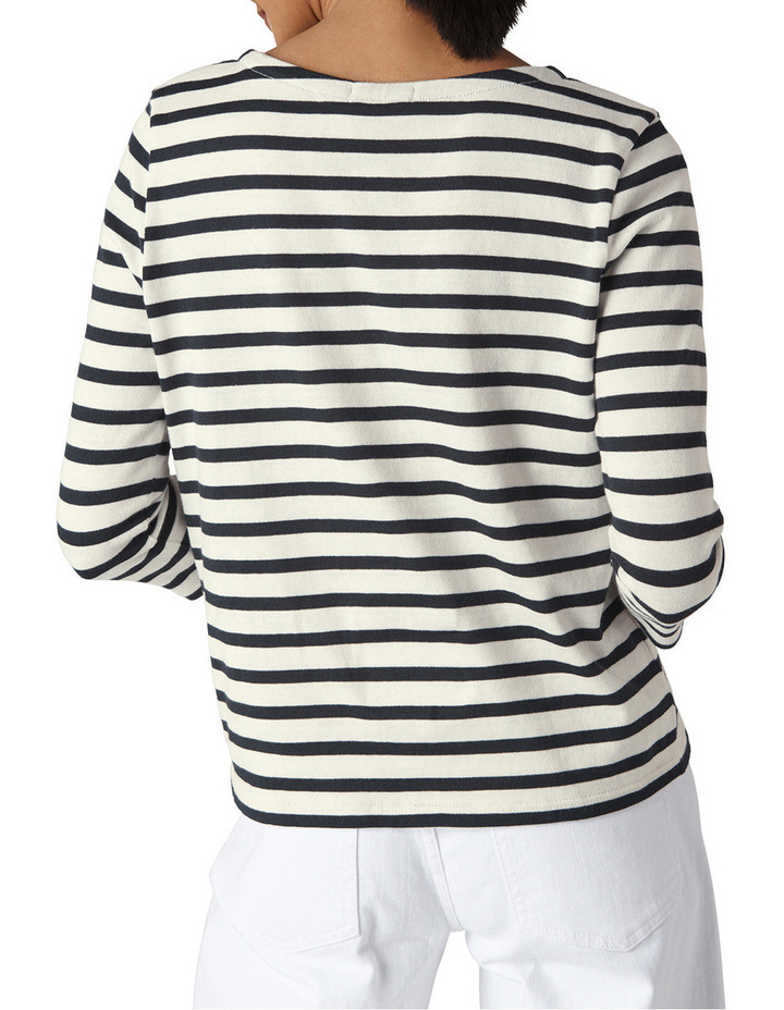 Mon Cheri Embroidered Stripe Top image 2