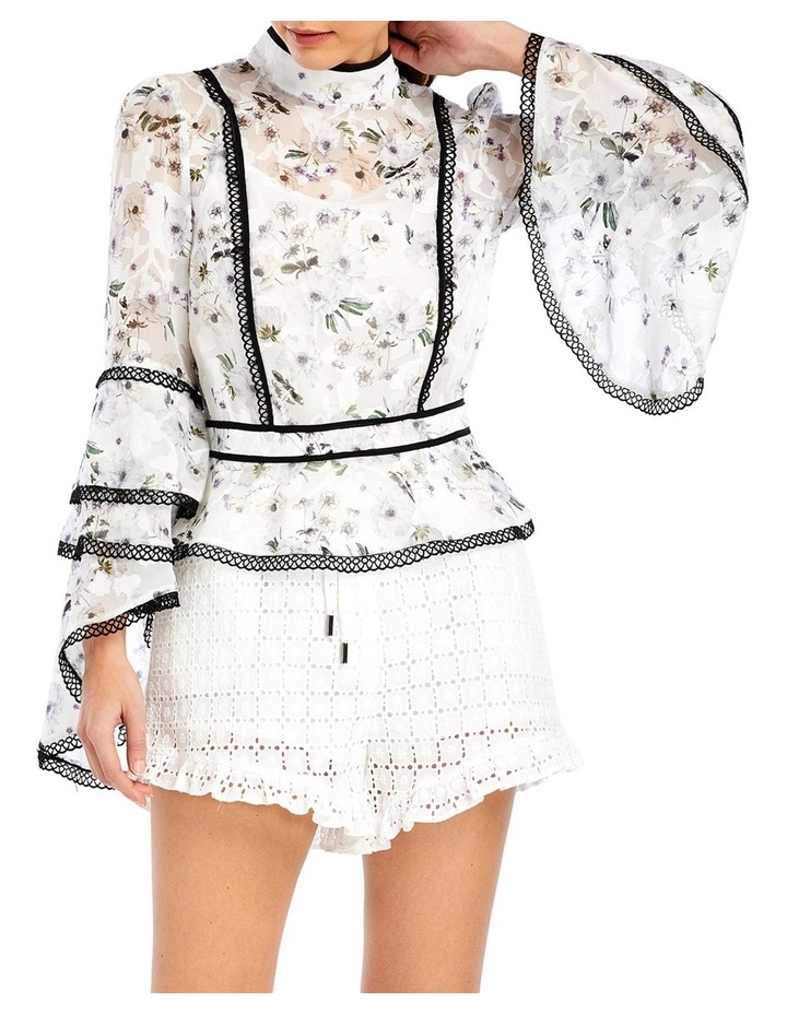 Madison Blouse in White Bouquet image 1