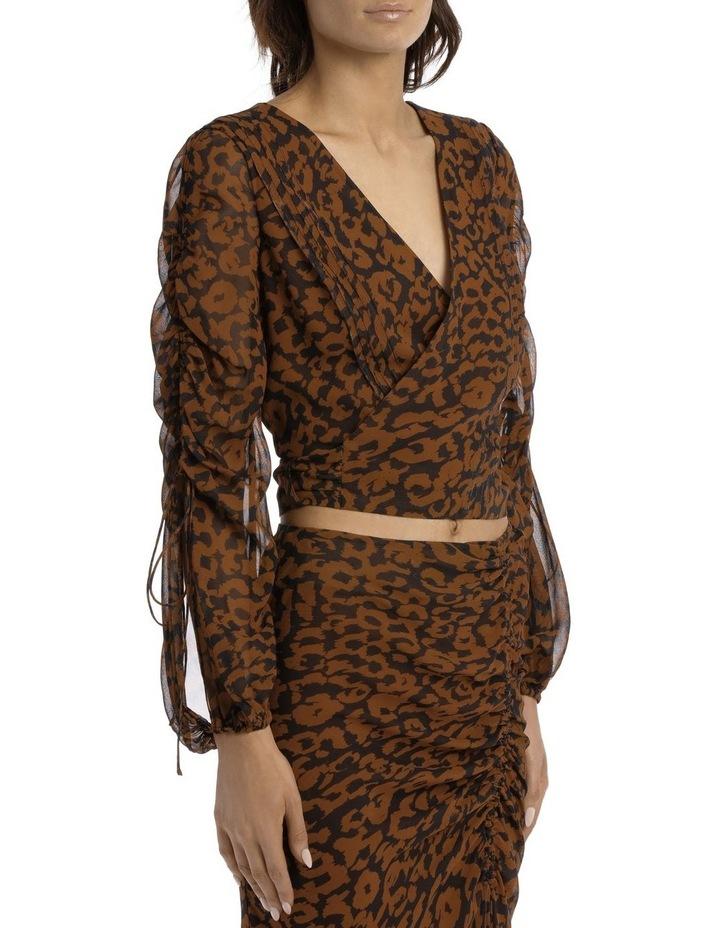 Pintuck Wrap Top Silk Georgette image 2