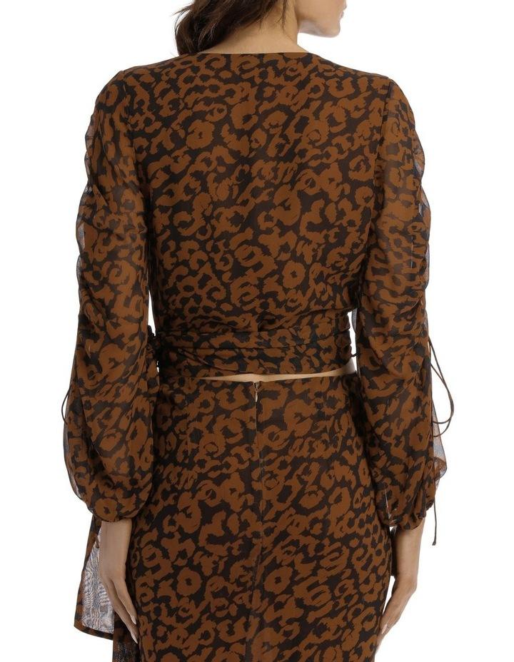 Pintuck Wrap Top Silk Georgette image 3
