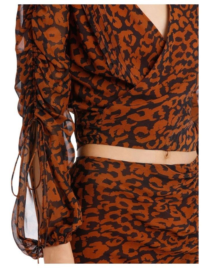 Pintuck Wrap Top Silk Georgette image 4