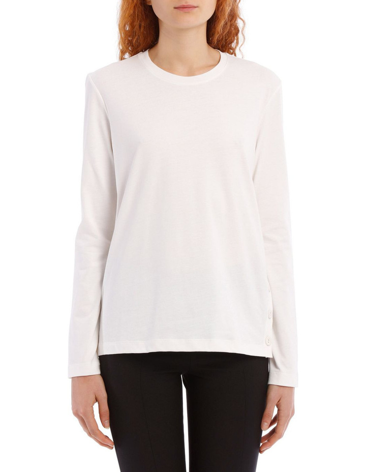 Round Neck Long Sleeve Button Jersey image 1