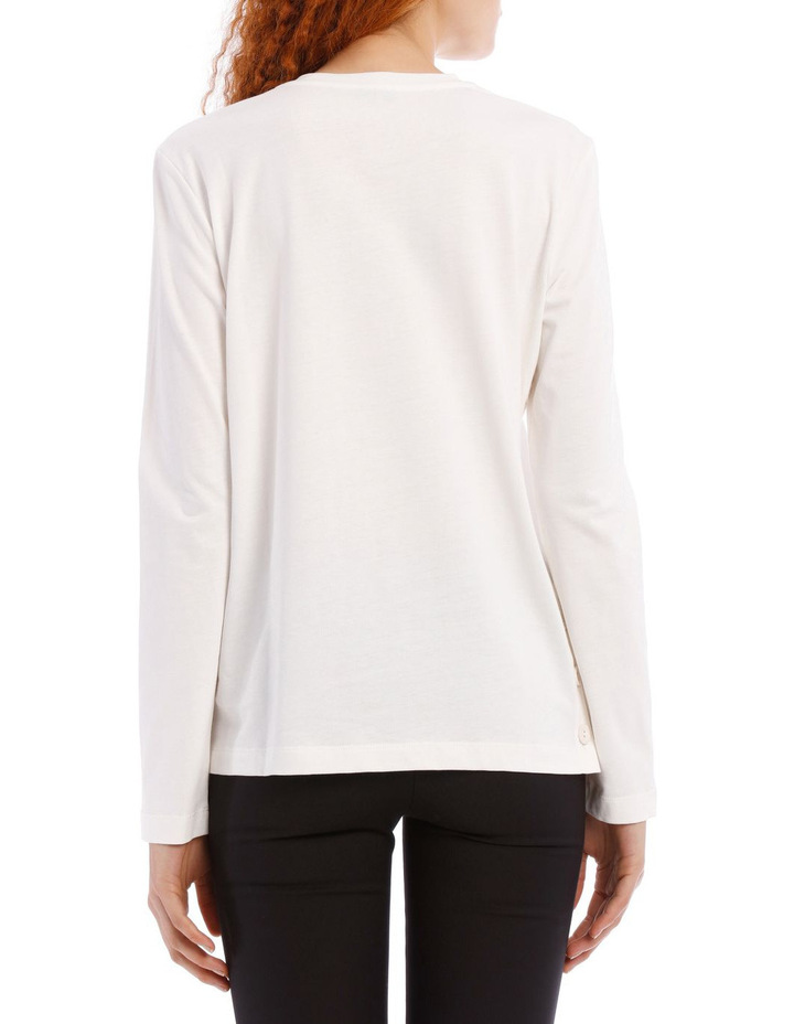 Round Neck Long Sleeve Button Jersey image 3