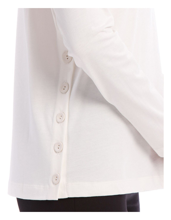 Round Neck Long Sleeve Button Jersey image 4