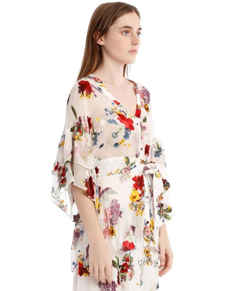 Floral Print Sheer Blouse image 2