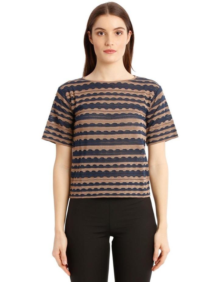 Textured Crop-Cut T-Shirt image 1
