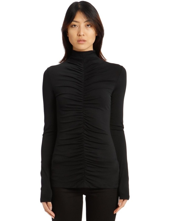 Long-Sleeve Fitted Turtleneck image 1