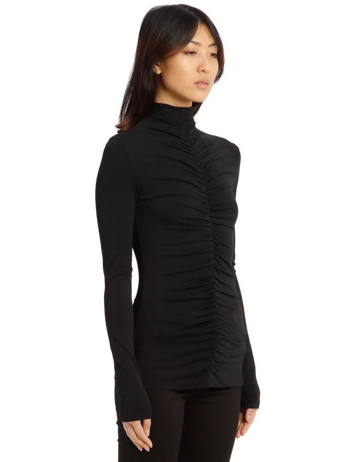 Long-Sleeve Fitted Turtleneck image 2