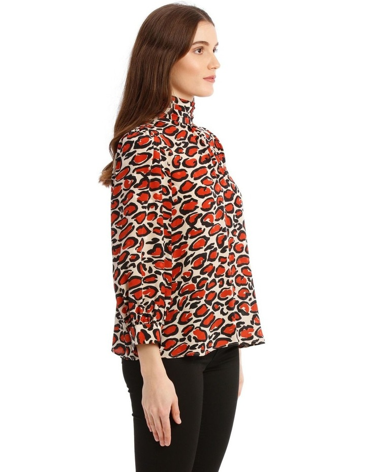 Off-White Leopard-Print Silk Turtleneck Top image 2