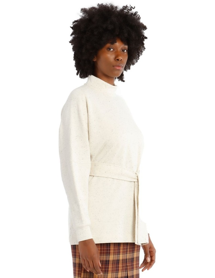 Arno Long-Sleeve High-Neck Top - Cream Melange image 2
