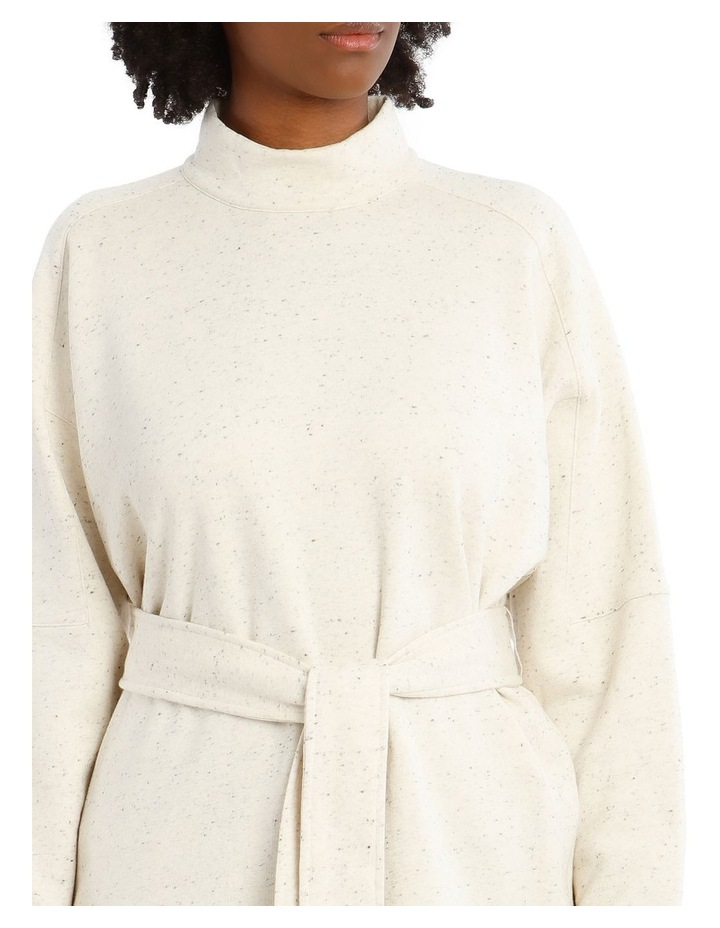 Arno Long-Sleeve High-Neck Top - Cream Melange image 4