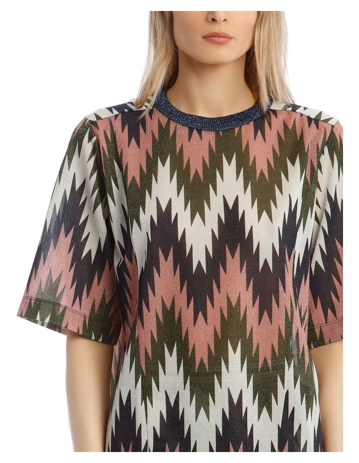 Short-Sleeve Lurex Striped Top image 4