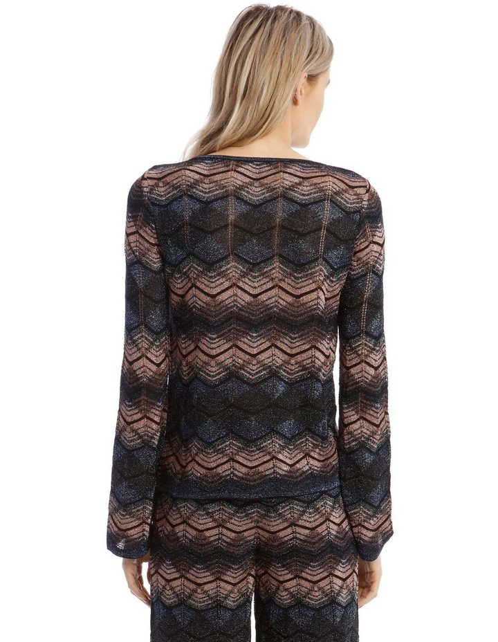 Long-Sleeve Lurex Knitted Top image 3