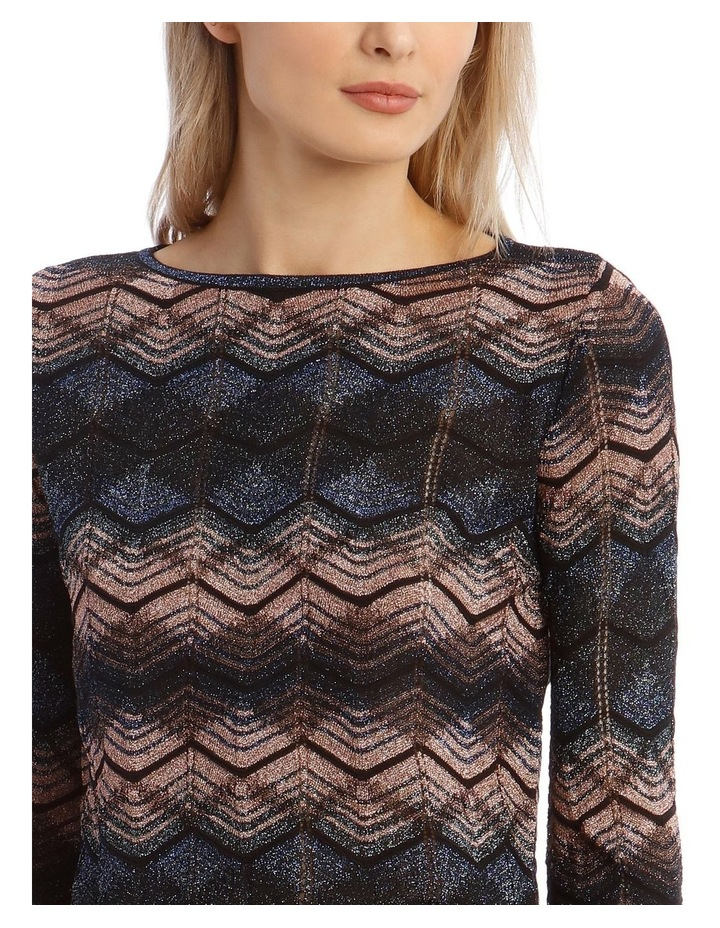 Long-Sleeve Lurex Knitted Top image 4