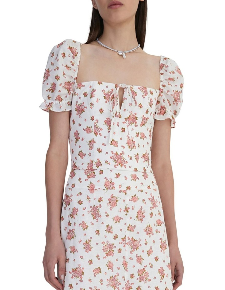 Ruby Jean Top Ivory Floral image 1