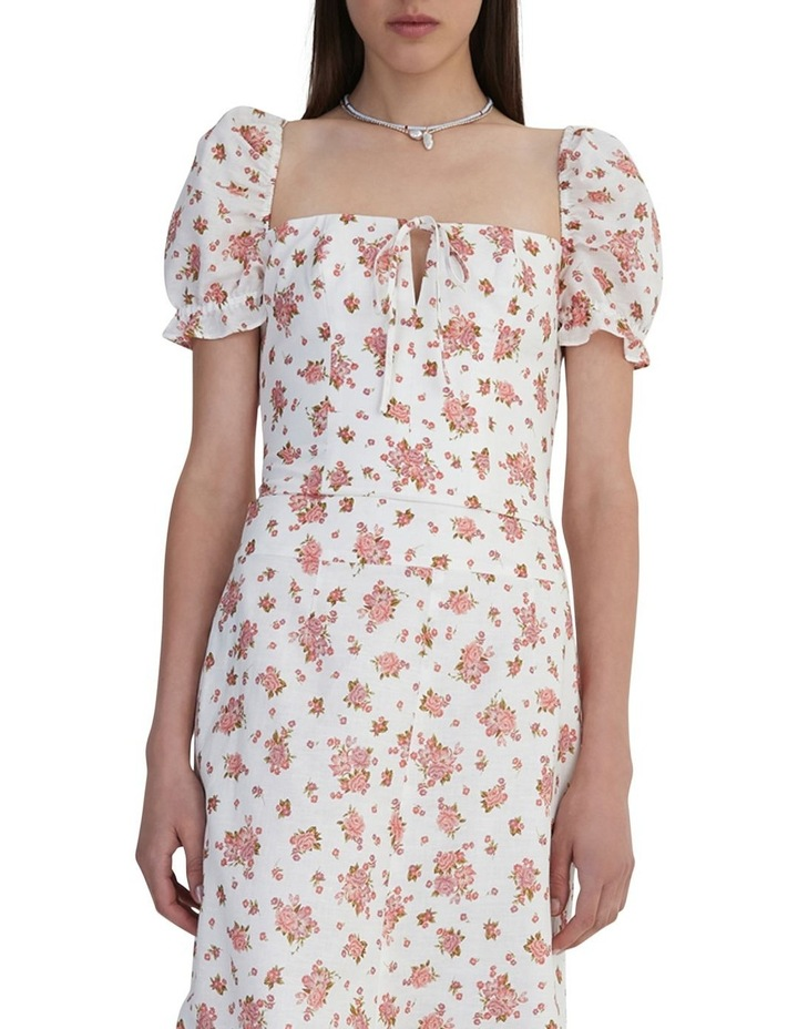 Ruby Jean Top Ivory Floral image 3