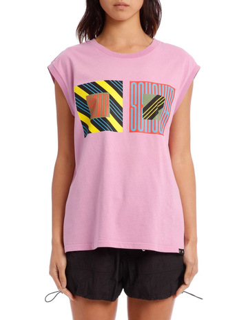 9125035f PSWL Muscle Tee Printed T-Shirt Jersey