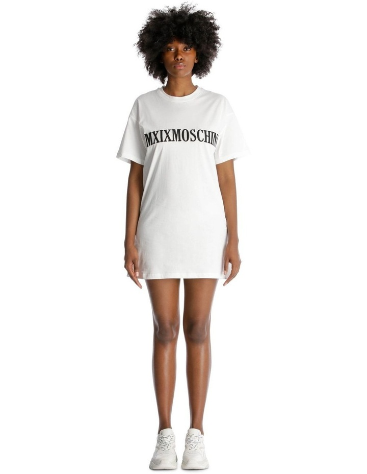 2019 Moschino Roman Numeral Embroidered T-Shirt Dress image 1