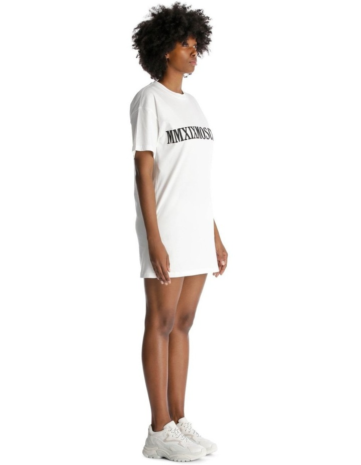 2019 Moschino Roman Numeral Embroidered T-Shirt Dress image 2