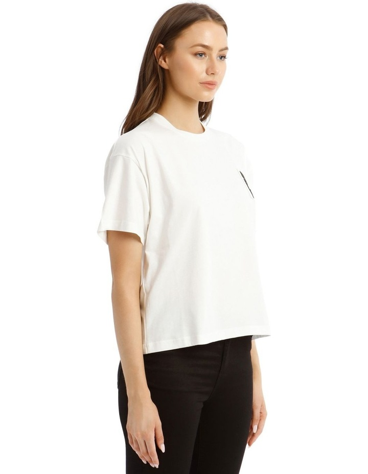 Teddy Label Jersey T-Shirt in White image 2