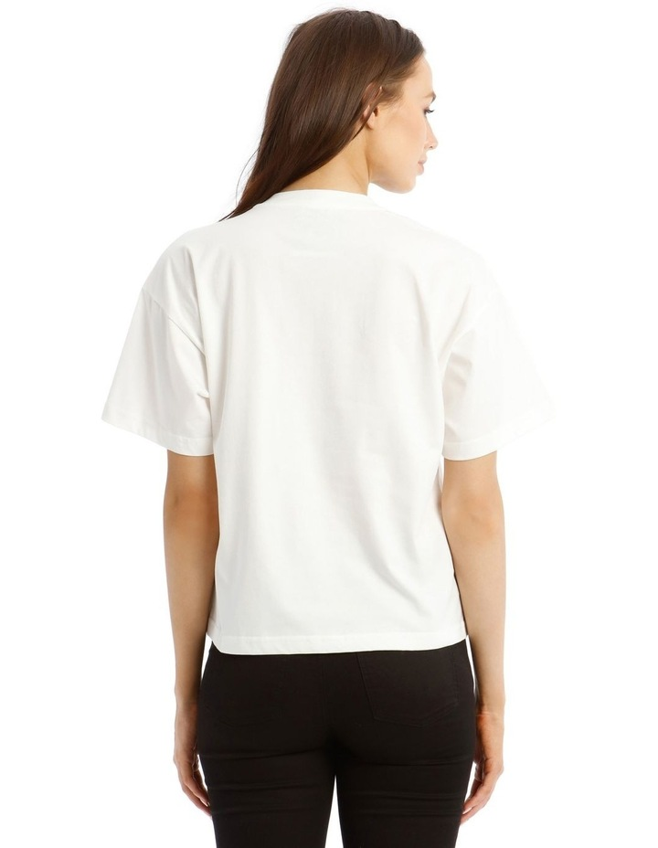 Teddy Label Jersey T-Shirt in White image 3