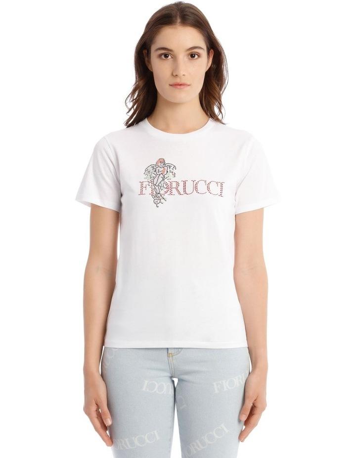 Angel Diamonte White T-Shirt image 1