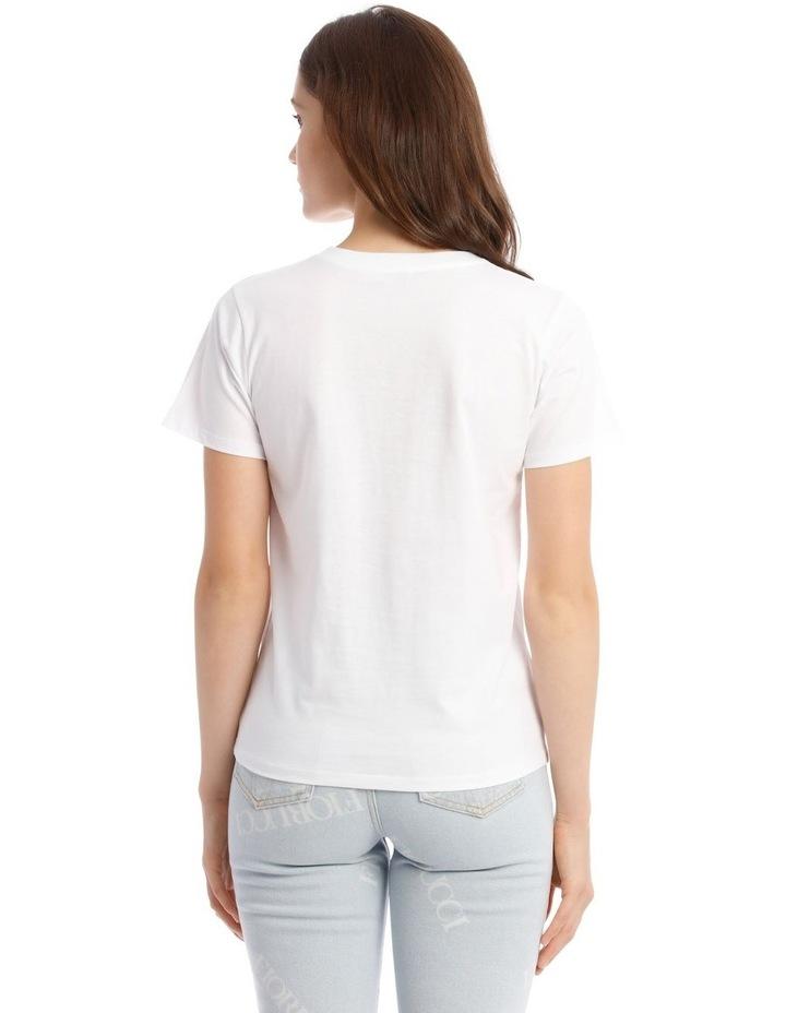 Angel Diamonte White T-Shirt image 3