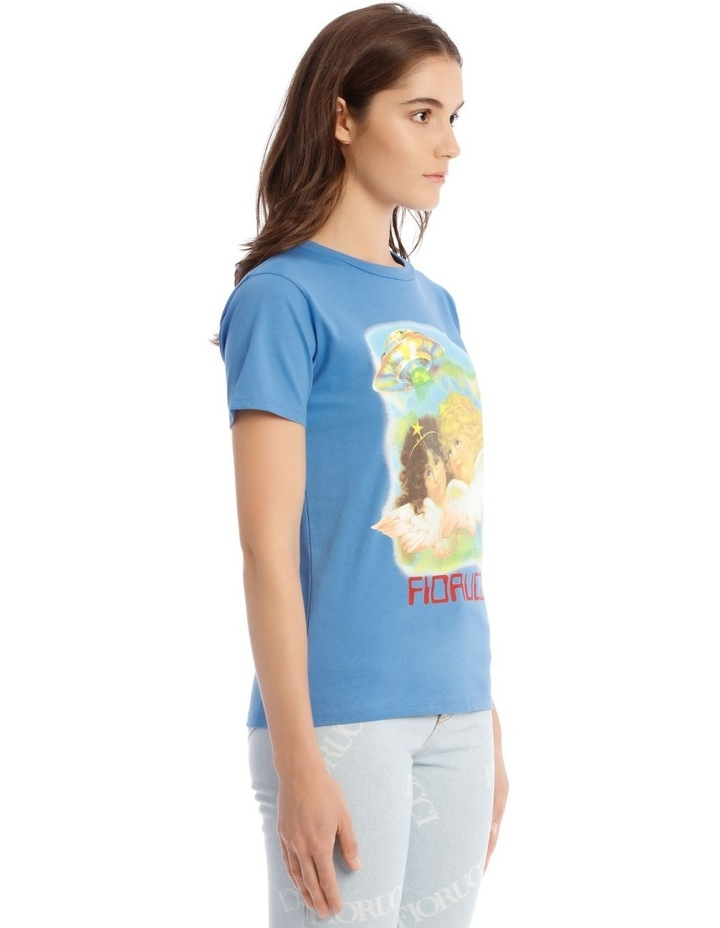 Angels UFO Graphic T-Shirt in Blue image 2