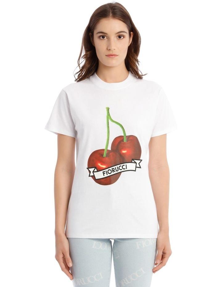Oversized Cherries T-Shirt in White image 1